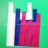 Heißer Verkaufs-nicht gesponnener Weste-Beutel, Shirt-Einkaufstasche, umweltfreundlich