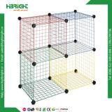 Cage enclenchée modulaire de cube en mémoire de maille de fil de ménage
