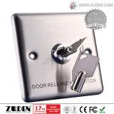 Zugriffssteuerung-Ausgangs-Taste mit Zink-Legierungs-Platte u. Stahl-Taste
