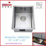 Undermountは手作りする流し、ステンレス鋼のハンドメイドの流し、台所の流し(HMRS1815)を