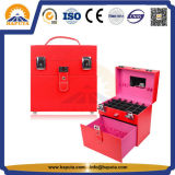 가죽 프레임 (HB-6001)를 가진 PVC 못 & 보석 아름다움 메이크업 케이스