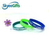 Bracelet personnalisé de silicones rempli par encre de Debossed