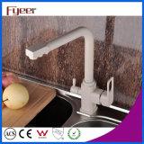 Grifo de cobre amarillo moderno del filtro de la cocina de 3 maneras de Fyeer
