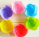 Nahrung Grade Kitchen Flower Shape Silicone Baking Pan für Baking Cake Bread