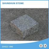 Pierres de pavé cube de granit blanc gris