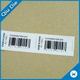 Étiquette polychrome de papier de vêtement d'impression de Tyvek de fournisseur chinois