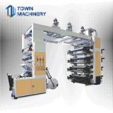 Hochgeschwindigkeitsrolle, zum der Plastikfilm Flexo Drucken-Maschine/des Stapel-Typen Flexo Drucker zu rollen