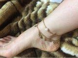 Goldblatt-Glockengeläut-Dekoration-Armband-Strand-Fuss-Schmucksache-Fußkettchen
