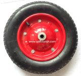 Rotella della gomma del pneumatico 3.25-8 della carriola per i carrelli del vagone