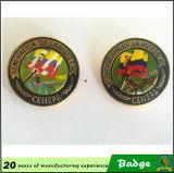 Insignia de la forma del escudo del metal modificada para requisitos particulares con el logotipo de la impresión