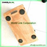 Carrello di legno dell'ammortizzatore rotondo mobile di buona forma con la rotella 4