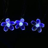 Flor de durazno LED lámpara solar Fairy decoración exterior de la luz de la cadena Holiday Lights para jardín, Árbol de Navidad, césped, el paisaje, 5-52m
