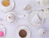 端ライン簡単な骨灰磁器のコーヒーカップ