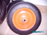 Roda de borracha da roda do pó/sólido do pó