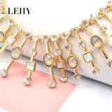 Voor-vrouwen van de Nauwsluitende halsketting van de Juwelen van de Douane van het Glas van het Ontwerp van de gouden-Toon van de manier de Hete Gietende