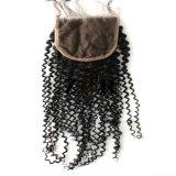 """4""""x4"""" brésilien vierges Remy Sèche cheveux humains de la Dentelle fermeture"""