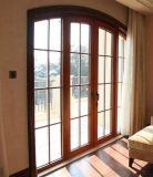 유럽식 목제 색깔 열 틈 석쇠 (ACD-021)를 가진 알루미늄 여닫이 창 문