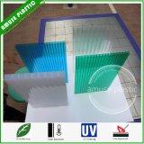 Folha plástica da cavidade do policarbonato do PC da parede triplicar-se da X-Estrutura do material de construção