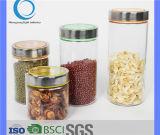 500ml-2200ml venda por grosso de vidro para armazenamento com tampa SS