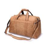 OEMの工場価格のラクダカラー上のグレーンレザー旅行ダッフルバッグ