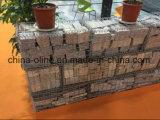 Maglia galvanizzata Gabion del filo di acciaio per la parete