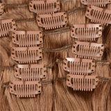 7Una barata 100% cabello rubio Clip Extensiones de Cabello