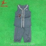 La nuova abitudine di stile di Healong non ha sublimato uniforme di baseball di modo degli abiti sportivi del manicotto
