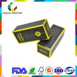 Negro de cartón de papel de color hombres cara crema caja de embalaje