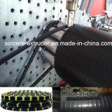 Máquina da produção da tubulação da drenagem do HDPE com tecnologia quente do enrolamento
