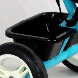 Carro do pedal dos miúdos e triciclo de crianças com barra do impulso