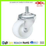 Rodízio de parafuso giratório plástico de 75 mm branco (L106-30C075X32)