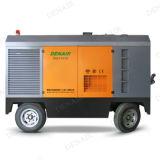 Compresor de aire portable diesel de alta presión minero refrescado aire del tornillo