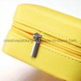 Petit voyage personnalisé jaune cuir synthétique boîte à bijoux