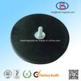 Originele Leverancier van Schijf 43mm van de Deklaag van het Neodymium Rubber de Pot/de Tang van de Magneet