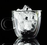 Taza de cristal del café express de la pared del doble de la taza de café del vidrio de Borosilicate