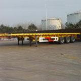 De 3 essieux de conteneur remorque à plat semi
