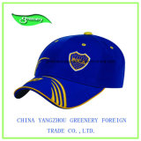 Fördernde blaue und gelbe Stickerei-Baseball-Sport-Schutzkappe