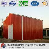Entrepôt préfabriqué léger mobile de structure métallique