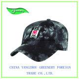 Haut-Rand-Schwarz-Stickerei-Baseball-Sport-Schutzkappe
