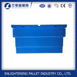 голубые твердые пластичные ящики Tote розницы гнездя стога 56L