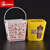 Оптовым изготовленный на заказ напечатанная логосом коробка устранимого обеда быстро-приготовленное питания бумажная упаковывая