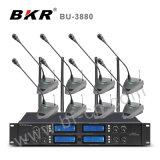 Kx-D3880 microfone sem fio da tabela da conferência da canaleta da freqüência ultraelevada 8