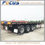 Acoplado largo pesado del carro de la base plana de los vehículos para el transporte de contenedores