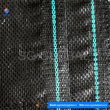 Plastique noir tissu géotextile tissé de limon Clôture