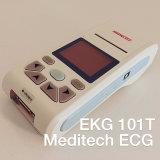 Het 12-lood van Meditech EKG101t Handbediende Elektrocardiograaf, ECG/EKG Machine, Examen 1000