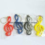 Formato personalizado decorar a cadeia de chaves de PVC para promoção dons