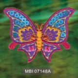 La grande zona del ricamo di disegno della farfalla di qualità