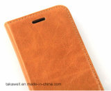 Caixa do couro da vaca da camada da caixa do telefone de pilha do OEM da qualidade superior primeira para a tampa do telefone móvel do SE do iPhone 5