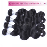 Волосы девственницы перуанских человеческих волос верхнего качества Weft естественные черные Unprocessed