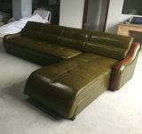 Sofá moderno da cor branca, sofá de couro da sala de visitas (C22)